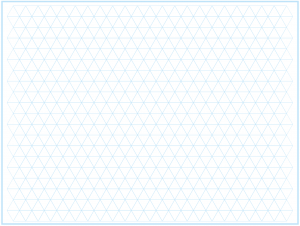 Equilateral Triangle Graph Paper