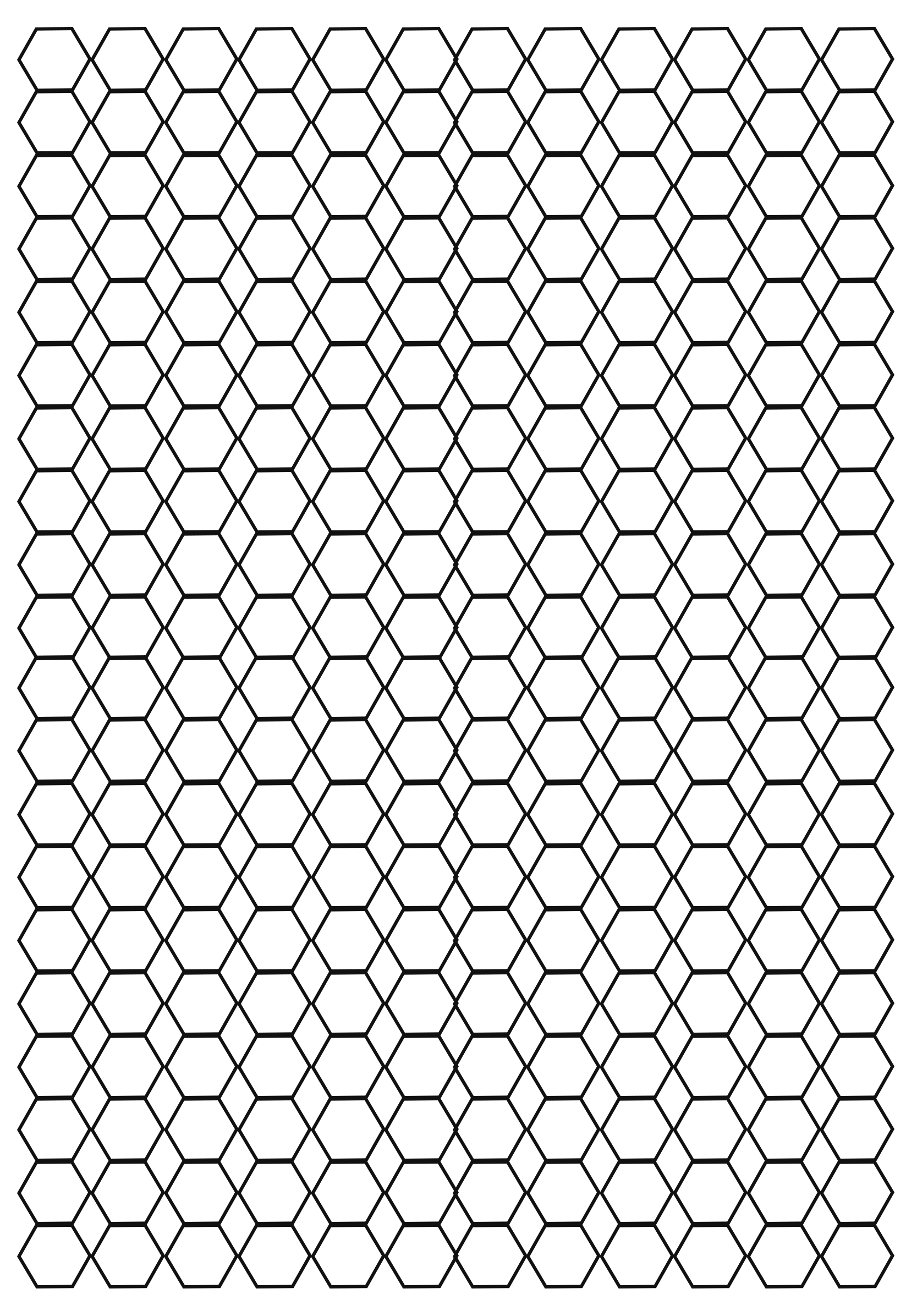 What is Hexagonal Graph Paper Used For